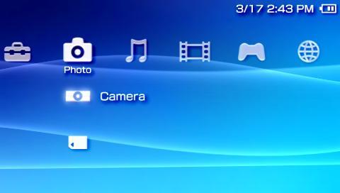 تصویر رابط کاربری مورد استفاده در PSP