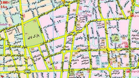 اجرای نرم افزار نقشه تهران (رهیاب 85 )  با سایز کامل PSP
