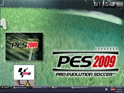 تصویری از اجرای بازی در پی اس پی بروی مانیتور کامپیوتر خانگی